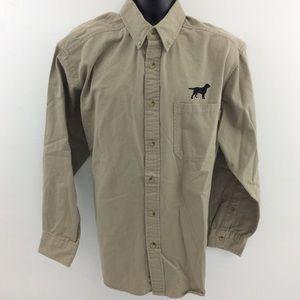 Woolrich Button Down Shirt hunting dog XL F5